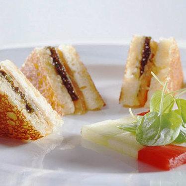 Smoked-salmon croque monsieur at Le Bernardin