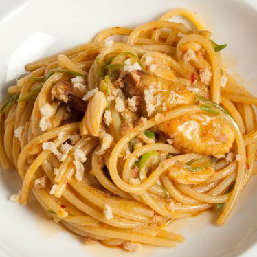 Spaghetti w/ Dungeness crab at Del Posto
