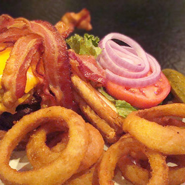 Plain Ol' Vortex burger at The Vortex Bar & Grill