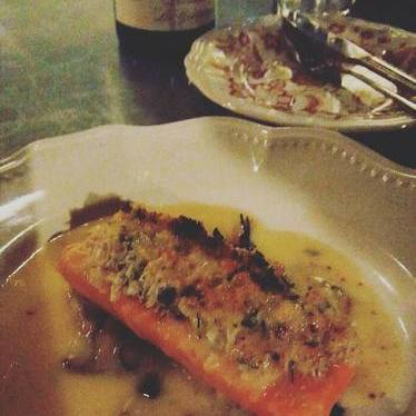 Char, crab, beurre blanc at Cafe Marie-Jeanne
