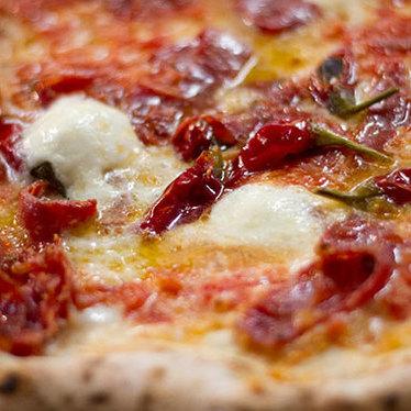 Diavola pizza at Antico Pizza Napoletana