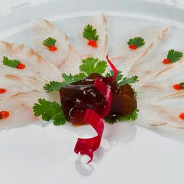 Fluke sashimi at Tomo