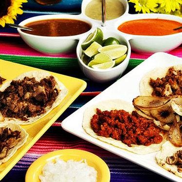 Lengua tacos at Taqueria El Rey Del Taco