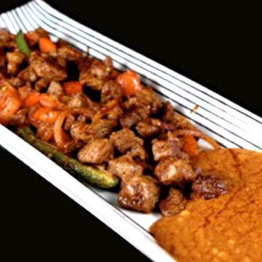 Lamb & tibs entrée at Desta Ethiopian Kitchen
