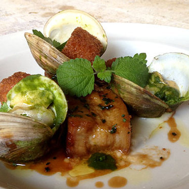 Pork belly & local clams at JCT Kitchen & Bar