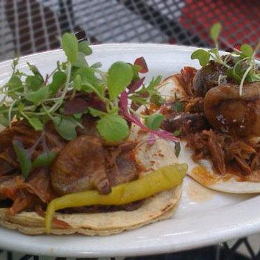 Roasted beef tongue taco at Holy Taco