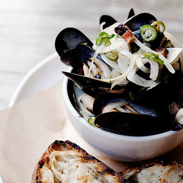 """Angry Mussels"" at JCT Kitchen & Bar"