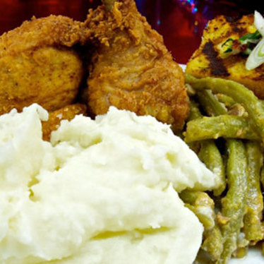 Buttermilk fried chicken at Silk City Diner Bar & Lounge