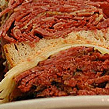Hot pastrami sandwich at Famous 4th Street Delicatessen