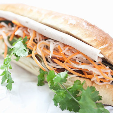 Vietnamese pork sandwich at Banh Mi Saigon Bakery