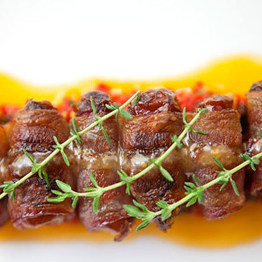 Bacon-wrapped dates at Square 1682