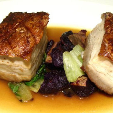 Berkshire pork belly at Fond