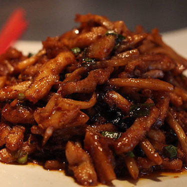 Garlic sauce-style pork at Han Dynasty
