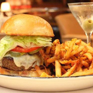 Butcher burger at Butcher and Singer