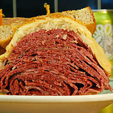 Corned beef Reuben at Famous 4th Street Delicatessen