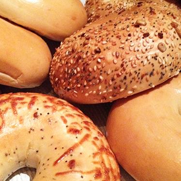 Bagels at Kaplan's New Model Bakery