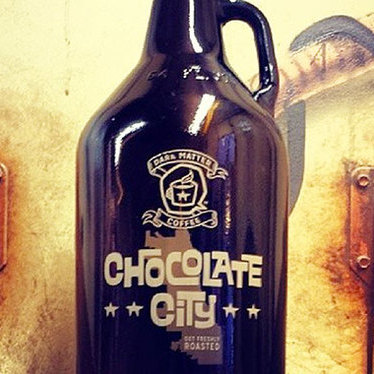 """Chocolate City"" growler at Star Lounge Coffee Bar"