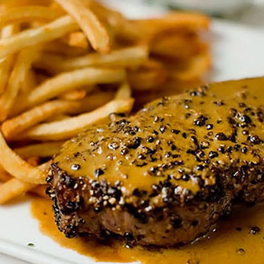 Creekstone Farms steak au poivre at Raoul's Restaurant