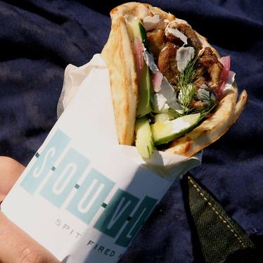 Lamb sandwich at Souvla