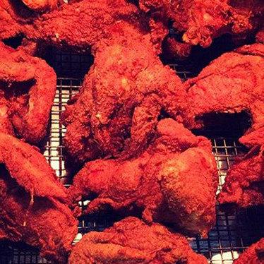 Hot chicken at Hattie B's Hot Chicken