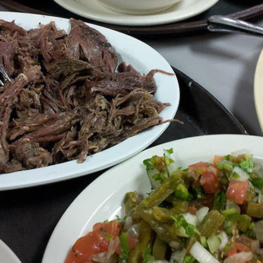 Slow roasted goat & lamb barbacoa at El Hidalguense Restaurant