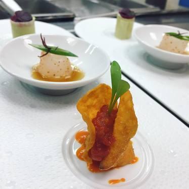 New canapés dish at Le Bernardin