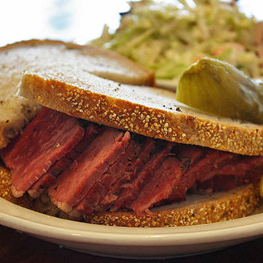 Pastrami sandwich at Wise Sons Bagel & Bakery