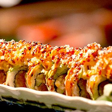 Bruce Lee roll at Shiku Sushi