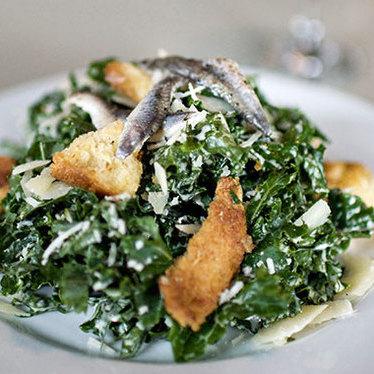 Kale Caesar salad at Skillet Diner