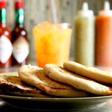 Pupusas guanacas at Guanaco's Tacos Pupuseria