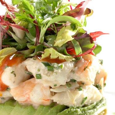 Crab & shrimp cocktail at CUT by Wolfgang Puck