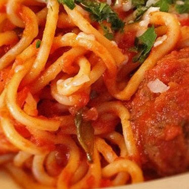 Spaghetti & meatballs at Venezia Restaurant