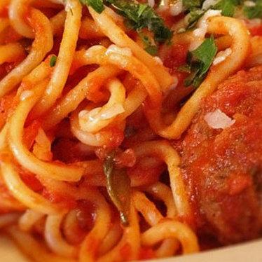 Spaghetti & meatballs at Venezia Restaurant