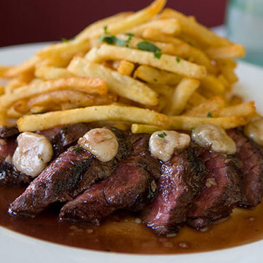 Grilled hanger steak at Lilette