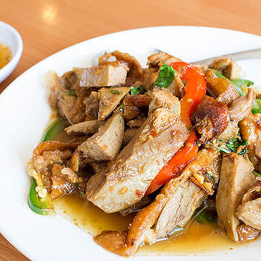 Duck w/ chili & garlic at Yai Restaurant