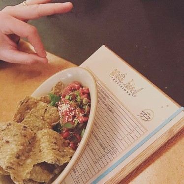Beef poke at State Bird Provisions