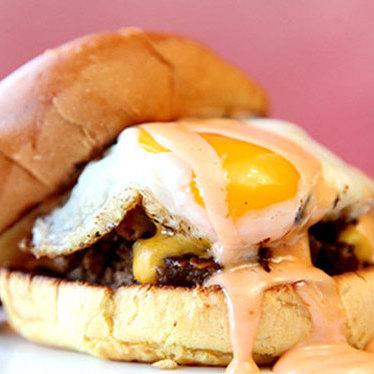 Spike's Sunnyside burger at Good Stuff Eatery
