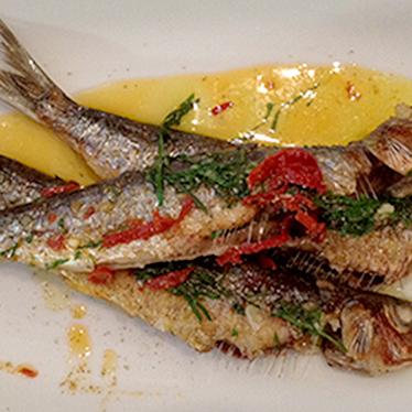 Sardines a la plancha at Barrafina