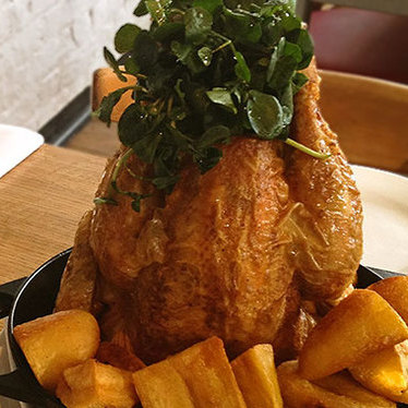 Roast chicken at Brawn