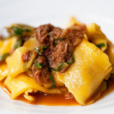 Braised lamb with pappardelle at Murano
