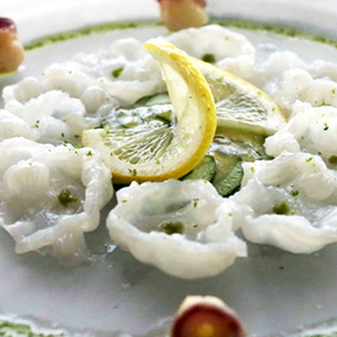 Octopus carpaccio at K-ZO Restaurant