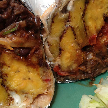 Fried plantain & black bean burrito at The Little Chihuahua