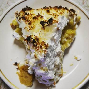 Coconut cream pie at Rest Haven
