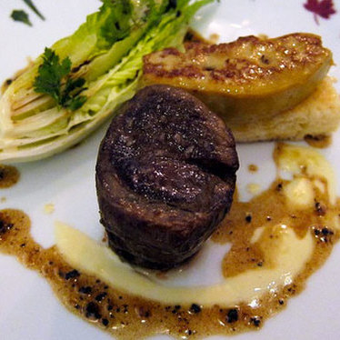 Fillet of beef Rossini at Alain Ducasse at The Dorchester