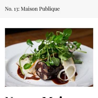 Greens, shallots and sausage cuts at Maison Publique