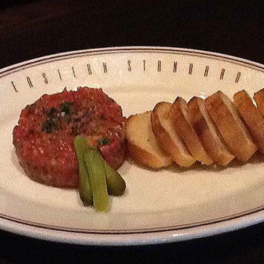 Steak tartare at Eastern Standard
