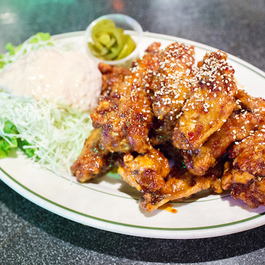 Spicy chicken wings at OB Bear
