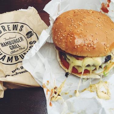 Burger at Andrew's Hamburgers