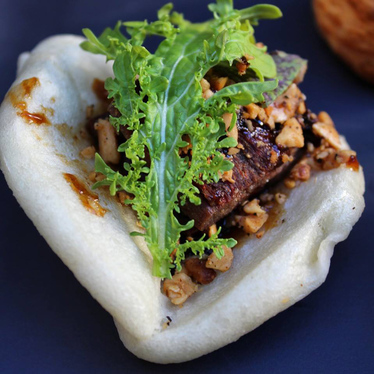 Steamed bun with lamb belly at Dirty Habit
