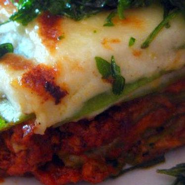 Lasagna at Della Terra